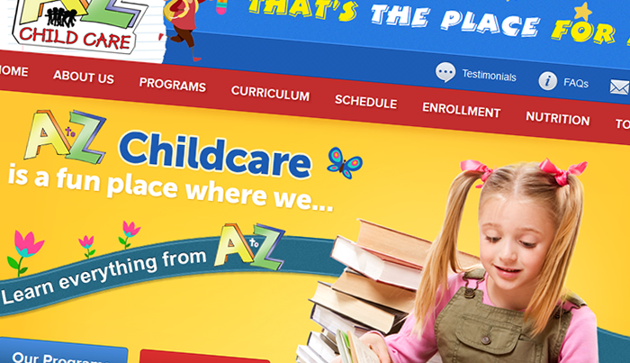 Custom child care website design gallery - UPDATED