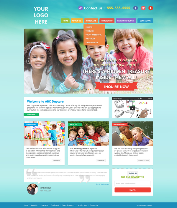 New Child Care Website Themes Added And More Coming Soon Academic Success Check Out Our Templates