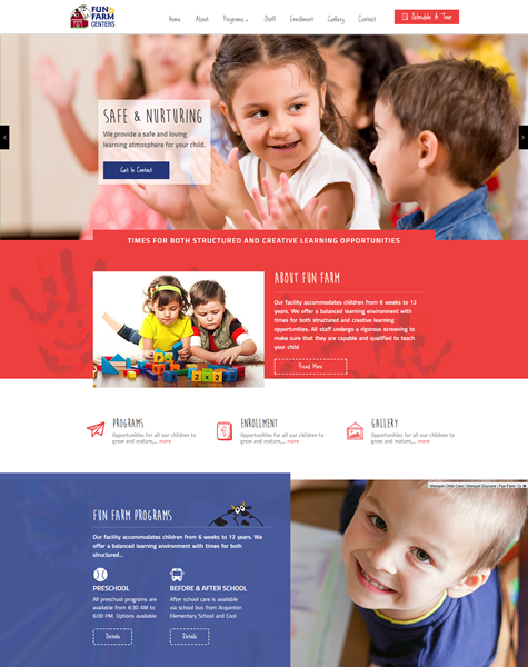 Custom Child Care Website Design