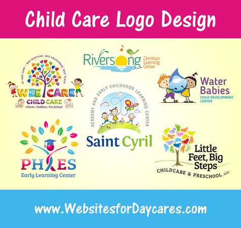 Daycare logos websites for daycares blog that they can feature on their advertisements business cards signage and staff t shirts we can help no matter what your current logo situation is colourmoves