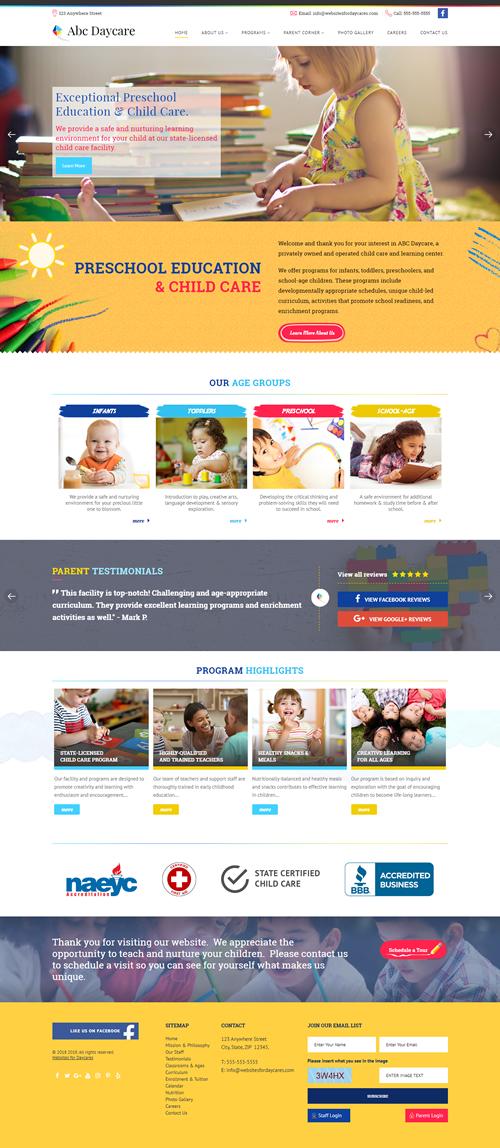 daycare website templates websites for daycares blog