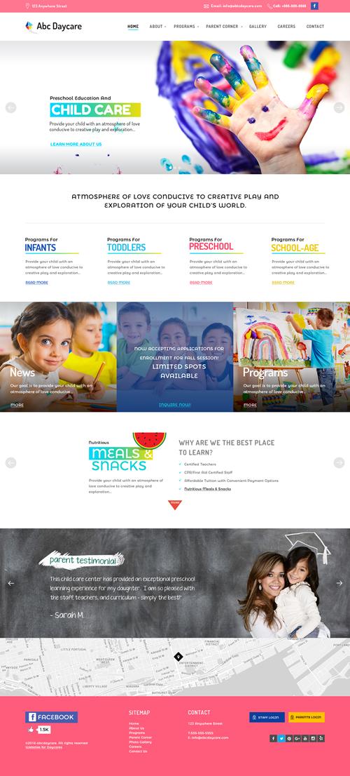 child care website templates websites for daycares blog