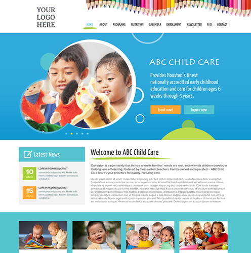 daycare website templates websites for daycares